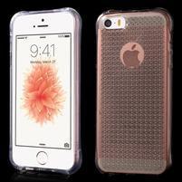 Diamonds gélový obal se silným obvodom na iPhone SE / 5s / 5 - Transparentný