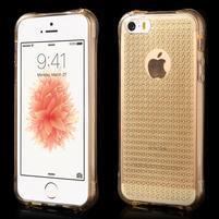 Diamonds gélový obal se silným obvodom na iPhone SE / 5s / 5 - zlatý