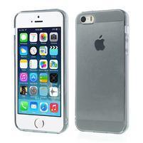 Gélový transparentný obal pre iPhone SE / 5s / 5 - sivý