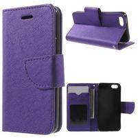 Cross PU kožené puzdro pre iPhone SE / 5s / 5 - fialové