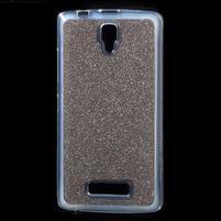 Povrchove trblietavý gélový obal pre mobil Lenovo A2010 - šedý