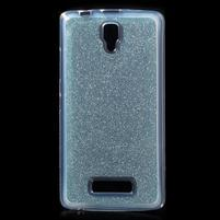 Povrchove trblietavý gélový obal pre mobil Lenovo A2010 - svetlomodrý