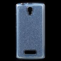 Povrchove trblietavý gélový obal pre mobil Lenovo A2010 - tmavomodrý