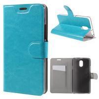 Horse peňaženkové puzdro pre Lenovo Vibe P1m - modré