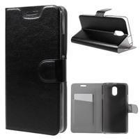 Horse peňaženkové puzdro pre Lenovo Vibe P1m - čierné