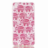 Softy gélový obal pre mobil Lenovo S850 - ružoví slony