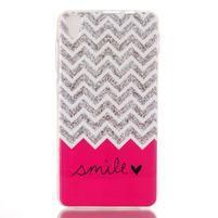 Softy gélový obal pre mobil Lenovo S850 - smile