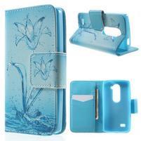 Emotive knížkové puzdro pre mobil LG Leon - vodní kvet