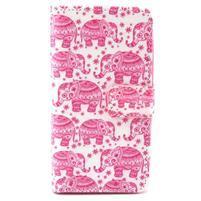 Style peňaženkové puzdro pre LG Leon - sloni