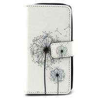 Style peňaženkové puzdro pre LG Leon - púpavy