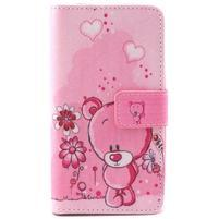 Style peňaženkové puzdro pre LG Leon - medvedík