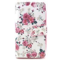 Style peňaženkové puzdro pre LG Leon - kvetiny