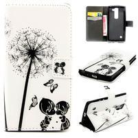 Peňaženkové PU kožené puzdro pre LG Leon - láska