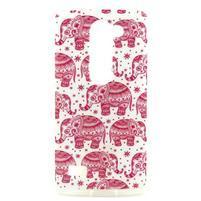 Pictu gélový obal pre LG Leon - ružoví sloni