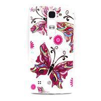 Transparentný gélový obal pre mobil LG Spirit - motýľ