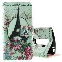 Peňaženkové puzdro na LG Spirit - Eiffelova veža