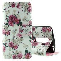 Peňaženkové puzdro na LG Spirit - ruže