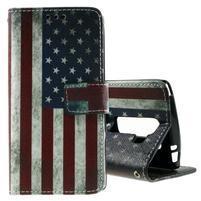 Peňaženkové puzdro na LG Spirit - vlajka US