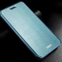 Vintage PU kožené puzdro s kovovou výstuhou pre Meizu MX5 -  modré