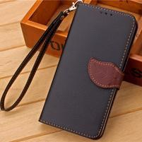 Knížkové PU kožené puzdro pre mobil Meizu MX5 - čierné