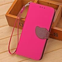 Knížkové PU kožené puzdro pre mobil Meizu MX5 - rose