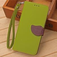 Knížkové PU kožené puzdro pre mobil Meizu MX5 - zelené