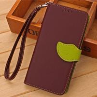 Knížkové PU kožené pouzdro na mobil Meizu MX5 - hnědé