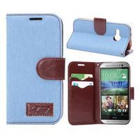 Jeans peňanžekové puzdro pre HTC One Mini 2 - svetlomodre