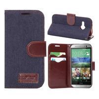 Jeans peňanžekové puzdro pre HTC One Mini 2 - tmavomodre