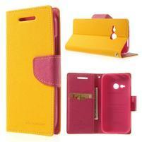 Style peňaženkové puzdro HTC One Mini 2 - žlté
