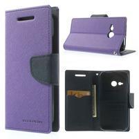 Style peňaženkové puzdro HTC One Mini 2 - fialové