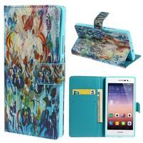 Obrazové peňaženkové puzdro na Huawei Ascend P7 - abstrakt