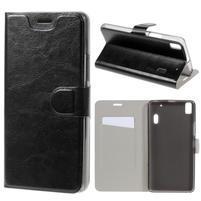 Hardy peňaženkové puzdro na Lenovo A7000 a Lenovo K3 Note - čierne