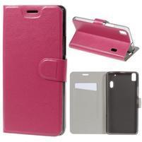 Hardy peňaženkové puzdro pre Lenovo A7000 a Lenovo K3 Note - rose