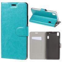Hardy peňaženkové puzdro pre Lenovo A7000 a Lenovo K3 Note -  tyrkysové