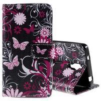 Cross peňaženkové puzdro na Xiaomi Mi4 - kouzelní motýlci