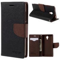 Mr. Fancy peňaženkové puzdro na Xiaomi Mi4 - čierné/hnedé