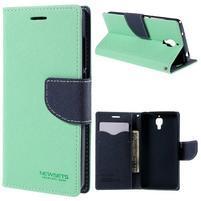 Mr. Fancy peňaženkové puzdro na Xiaomi Mi4 - azurové