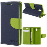 Mr. Fancy peňaženkové puzdro pre Xiaomi Mi4 - tmavo modré