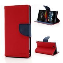 Mr. Goos peňaženkové puzdro na Sony Xperia Z - červené