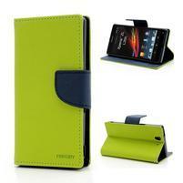 Mr. Goos peňaženkové puzdro na Sony Xperia Z - zelené