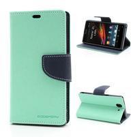 Mr. Goos peňaženkové puzdro na Sony Xperia Z - azurové