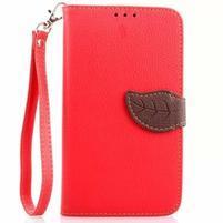 Peňaženkové puzdro s pútkom pre Samsung Galaxy Note 4 - červené