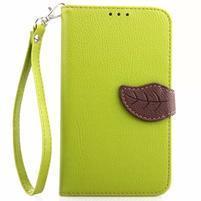 Peňaženkové puzdro s pútkom pre Samsung Galaxy Note 4 -  zelené