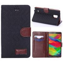 Elegantné peňaženkové puzdro pre Samsung Galaxy Note 4 - čierne