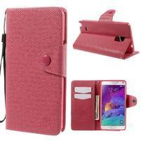 Zapínací peneženkové poudzro Samsung Galaxy Note 4 -rose