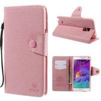 Zapínací peneženkové poudzro Samsung Galaxy Note 4 - ružové