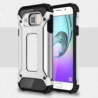 Extreme outdoor kryt 2v1 pre mobil Samsung Galaxy A3 (2016) - strieborny