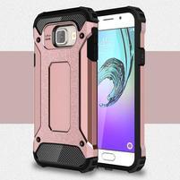Extreme outdoor kryt 2v1 pre mobil Samsung Galaxy A3 (2016) - ružový