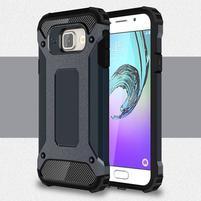 Extreme outdoor kryt 2v1 pre mobil Samsung Galaxy A3 (2016) - šedomodrý
